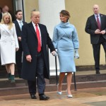 A powder-blue Ralph Lauren dress for Donald Trump inauguration. (Photo: Archive)