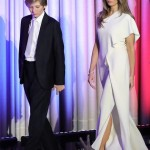 A cream Ralph Lauren jumpsuit to celebrate Donald Trump's victory on election night. (Photo: Archive)