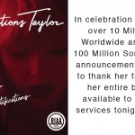 After selling 100 million songs worldwide, Swift thanked her fans by announcing she was bringing her music back to streaming services. (Photo: Twitter)