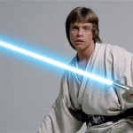 Luke Skywalker's lightsaber was also sold for $45,000 USD. (Photo: Archive)