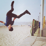 He is an incredible talented gymnast. That's one of the major reasons why Tom Holland was cast in the Marvel movie. He's got some crazy flipping moves! (Photo: Instagram)
