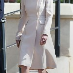 Attending Easter Day service wearing a cream Catherine Walker coat. (Photo: Archive)