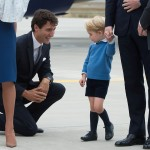 Justin Trudeau doesn't deserve to shake little Prince George's royal hand. (Photo: Release)