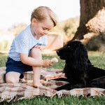 Playing with a dog for his 3rd birthday photoshoot. (Photo: Release)