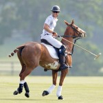 Harry, playing at the Audi Polo Challenge in London. (Photo: Archive)