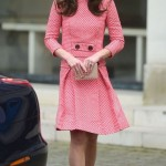 The Duchess opted for a cheerful pink skirt and top form Eponine. (Photo: Archive)