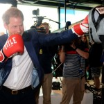 Harry putting his boxing skills to the test. (Photo: Archive)