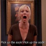 When Phoebe lost her mind over Emma's sock. (Photo: Archive)