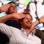 Prince Harry caught on Salute Cam. (Photo: Archive)
