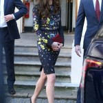 Middleton wearing a navy floral dress by Erdem. (Photo: Archive)