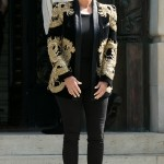 Kris Jenner in Balmain. (Photo: Archive)