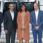 Harry, posing next to Will and Kate and Michelle and Barack Obama. (Photo: Archive)