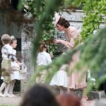 Prince George being scolded by Kate Middleton in his aunt Pippa's wedding. (Photo: Release)