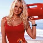 Pamela Anderson's red swimsuit. (Photo: Archive)