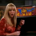 When Phoebe was bested by a machine (Ms. Pac-Man), unleashing hell to a waka waka-infused opera score at precisely the wrong moment. (Photo: Archive)