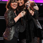For years, Demi Lovato said how much she liked Kelly Clarkson's music, until finally met her and sang with her. (Photo: Archive)