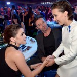 """Eleven"" meeting her idol, Emma Watson at the MTV Movie Awards. (Photo: Archive)"