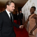 Lupita Nyong'o was a fan of Leonardo DiCaprio since seeing him in Romeo + Juliet, and she finally met him on a red carpet. (Photo: Archive)
