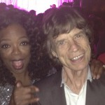 Two legends together, Oprah and Mick Jagger. (Photo: Archive)