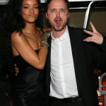 Rihanna couldn't contain the excitement when she met Breaking Bad actor Aaron Paul. (Photo: Archive)