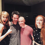 "Taylor Swift excited to meet the cast of ""X-Men: Apocalypse"". (Photo: Archive)"