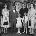 The royal family posed with King Hussein of Jordan and his wife during their honeymoon in England in 1955. (Photo: Archive)