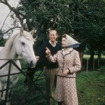 The pair visiting a farm during their Silver Wedding anniversary year, September 1972. (Photo: Archive)