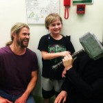 Visiting some fans at the hospital. (Photo: Instagram)