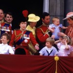 The royal family, including baby Harry, watching from the balcony of Buckingham Palace during the Trooping the Colour ceremony in 1985. (Photo: Archive)