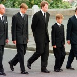 Britain's Prince Philip, Prince William, Earl Spencer, Prince Harry, and Prince Charles walking outside Westminster Abbey during the funeral service for Diana, Princess of Wales in London September 6, 1997. (Photo: Archive)
