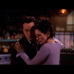 When Janice's voice is heard at the end of the romantic mix tape Chandler gave Monica for Valentine's day. (Photo: Archive)