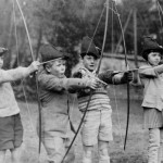 Young Prince Philip, second from left, playing with his friends at the MacJannet American School in France circa, 1929. (Photo: Archive)