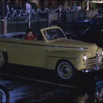 "The yellow classic car that Daniel polishes in the famous ""wax on, wax off"" scene, then later gifted to Daniel by Mr. Miyagi, was actually given to Ralph Macchio by the movie producer, and he still owns it. (Photo: Archive)"