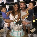 Lionel and Antonella are parents to Thiago, 5, and Mateo, 2. (Photo: Instagram)