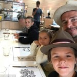 The Beckham's visit followed an incident last week where Mikita had accidentally photobombed on of David's photos with his kids. (Photo: Instagram)