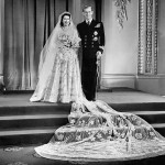 Princess Elizabeth and Price Philip, Duke of Edinburgh, at Buckingham Palace after their wedding on November 20, 1947. (Photo: Archive)