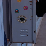 Although the name of Daniel's school is never mentioned in the film, a sticker inside his locker door suggests he attended West Valley High School. (Photo: Archive)