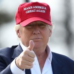 "As we already stated, Donald Trump's hair-do is not his greatest strength. But covering it up with a trucker hat with his campaign phrase ""Make America Great Again"" across it is not at all a better look. (Photo: Archive)"