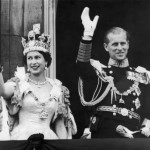 The pair waving at the crow after Elizabeth was crowned at Westminster Abbey in 1953. (Photo: Archive)