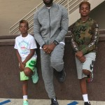 Basketball star LeBron James became a dad at age 19, when he welcomed son LeBron James Jr. (Photo: Instagram)