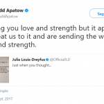Actor Judd Apatow also sent a message of love to Julia. (Photo: Twitter)