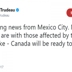 Justin Trudeau offered the help of the Canadian people through Twitter. (Photo: Twitter)