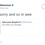 Actress Sara Silverman empathized with Julia's pain. (Photo: Twitter)