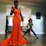 Viola Davis was ready to step out that door. Her daughter? Well, we are guessing she stayed home. (Photo: Instagram)