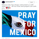 "The Backstreet Boys said the Mexican people has always welcomed them with ""opened arms"". (Photo: Twitter)"