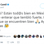 """What happened? Is everyone safe in Mexico? I just heard about the strong earthquake, 8.1, I hope everyone is good. Stay safe from the aftermaths."" Jaime Camil (Photo: Twitter)"