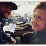 "Justin Timberlake's grandma is her good-luck charm. ""Just flexin' real hard at this @memgrizz game with my Granny. She must be good luck… We won by 16."" (Photo: Instagram)"
