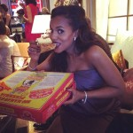 There's never a bad time to have pizza! Not even during the Oscars. Right, Kerry? (Photo: Instagram)