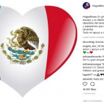 """Touring in Spain, all my team and I are heartbroken for the victims of the earthquake. We remain alert and hoping there nothing else to be sorry for. All my support to my dear Mexico."" Miguel Bosé (Photo: Instagram)"