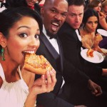 Come for the Oscars, stayed for the cheesy pizza! (Photo: Instagram)